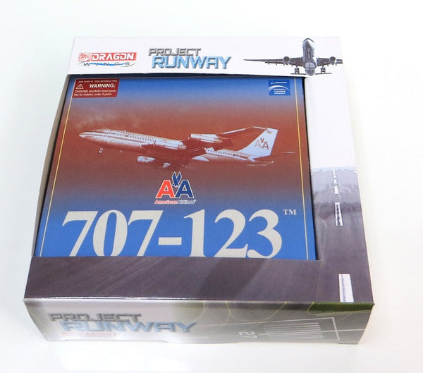 American Airlines Boeing 707-123 1/400 Model with Stand & Tin