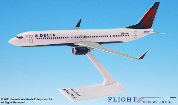 Flight Miniatures Delta Airlines Boeing 737-900 1/200 Scale Model with Stand