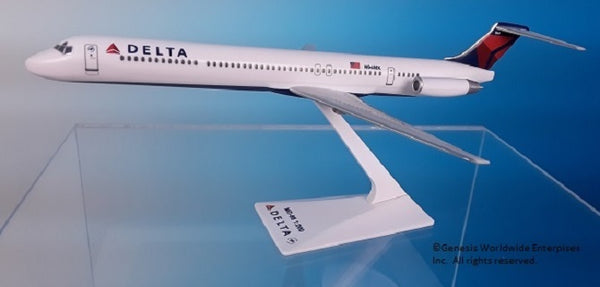 Flight Miniatures Delta Airlines MD-88 1/200 Scale Model with Stand