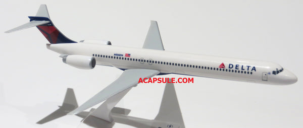 Flight Miniatures Delta Airlines MD-90 1/200 Scale Model with Stand Reg N930DN Delta on Belly