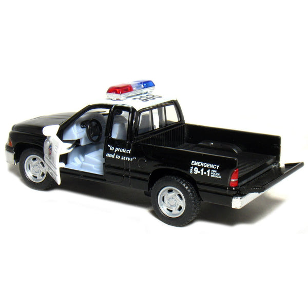"5"" Dodge Ram Police Pickup Truck 1:44 Scale (Black/White)"