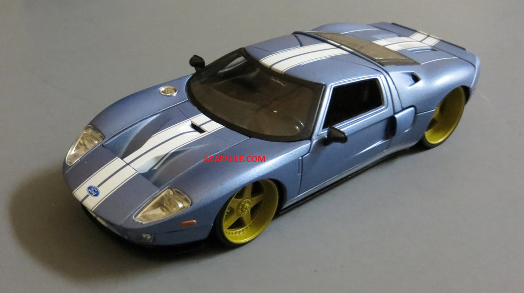 Pearl Blue Ford Gt   Scalecast Model By Jada