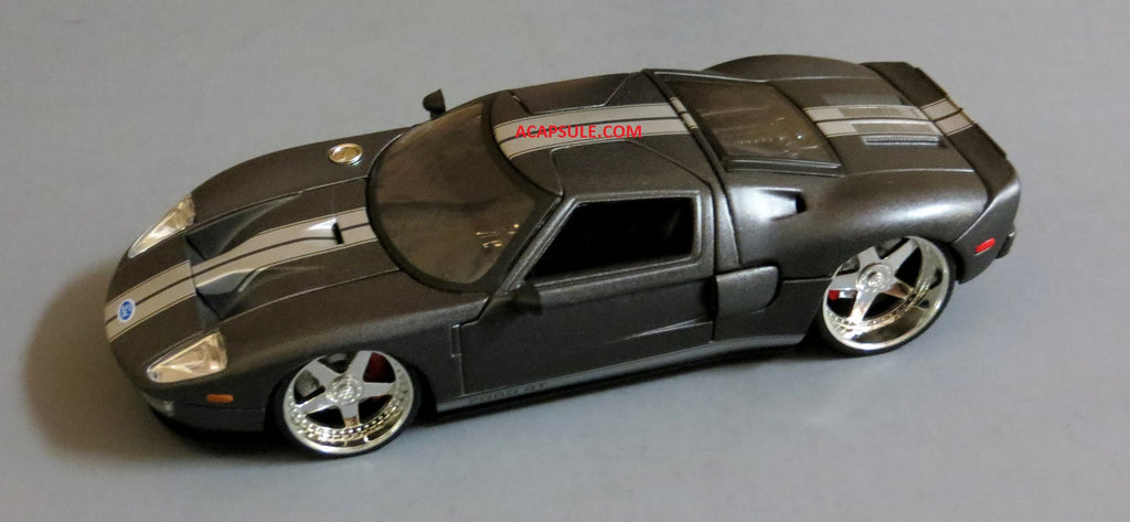 Charcoal Grey Ford Gt   Scalecast Model By Jada