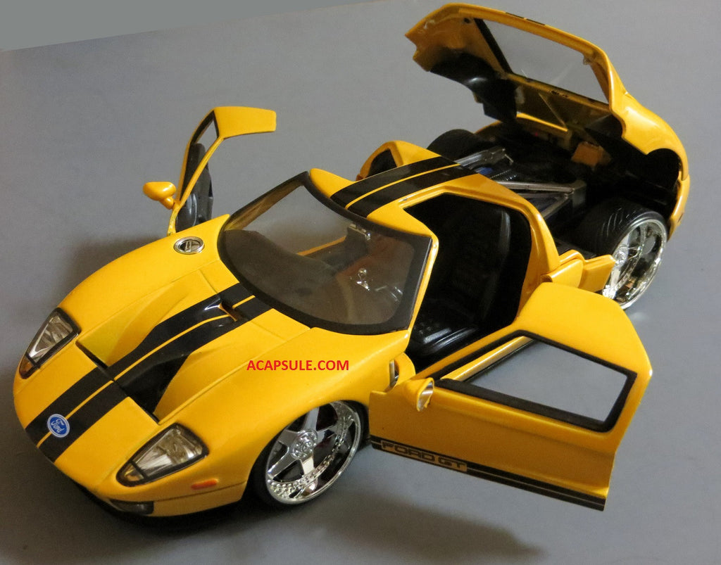 Yellow Ford Gt   Scalecast Model By Jada