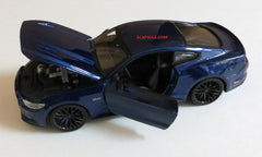 Dark Blue 2015 Ford Mustang GT 1/24 Scale Diecast Model