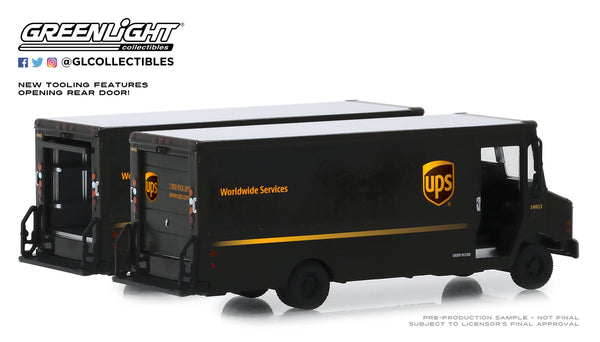 Greenlight HD Truck Series 17 1/64 Scale Diecast UPS 2019 Package Car Model Truck