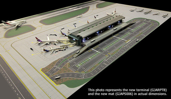 Gemini Jets Airport Terminal With Airport Mat 1 400 Scale