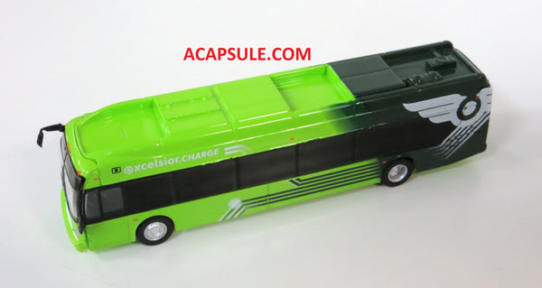 Green New Flyer Xcelsior Charge- 1/87 Scale Diecast Model Bus