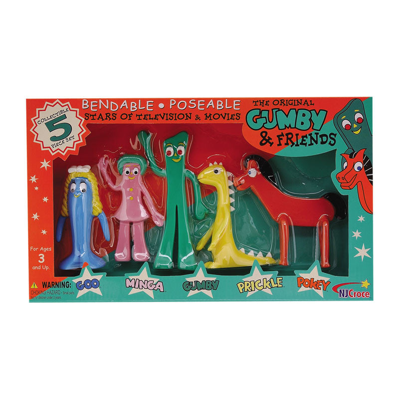 The Original Gumby and Friends Bendable Poseable 5-Piece ...