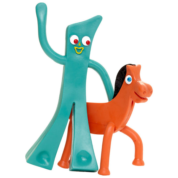 Gumby and Pokey Bendable Pair in Retro 50s Box