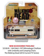The Walking Dead 1973 Winnebago Chieftain and accessories 1/64 Diecast Model by Greenlight