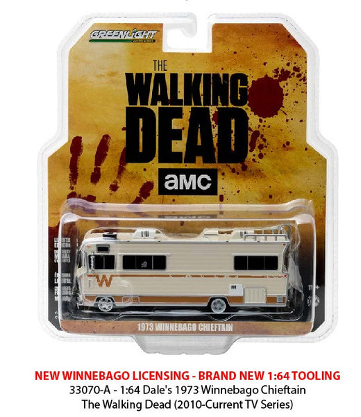 The Walking Dead 1973 Winnebago Chieftain 1/64 Diecast Model by Greenlight