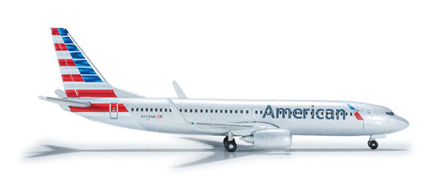 Herpa Wings New Livery American Airlines 737-800 1/500 Diecast Model HE526043