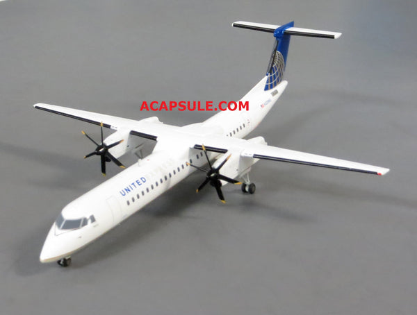 Herpa United Express Bombardier Q400 1/200 Scale Diecast Model with Stand Reg N328NG
