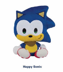 Tomy Happy Sonic Emoji Plush - 8 Inches