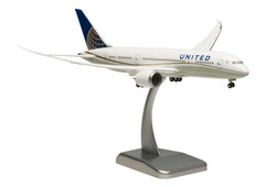 Hogan United Airlines Boeing Dreamliner 787-8 1/200 Scale Model w Gears & Stand