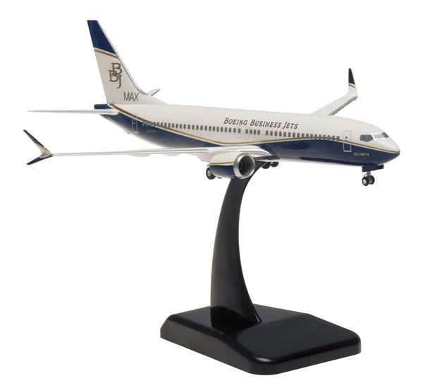 Hogan Boeing Business Jet Boeing 737 Max 8 1/200 Scale Model w Gears & Stand