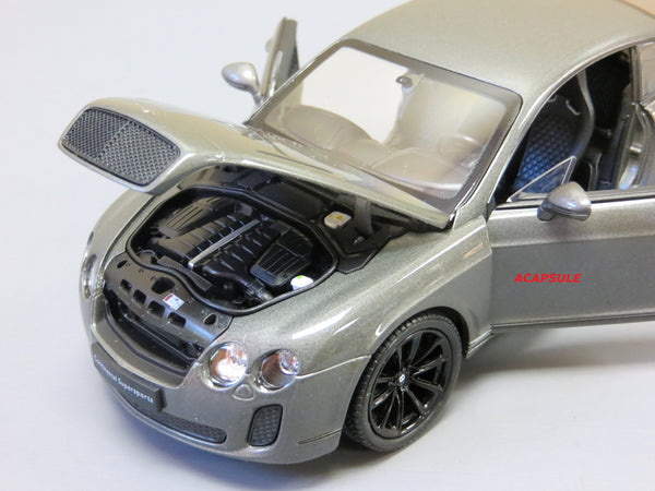 Gray Bentley Continental Supersports 1/24 Scale Diecast Model