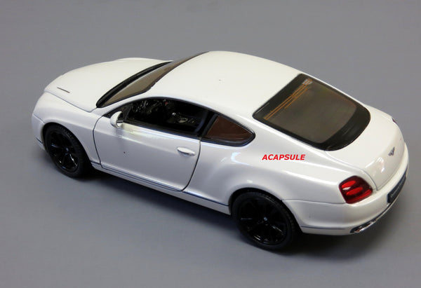 White Bentley Continental Supersports 1/24 Scale Diecast Model