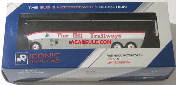 Pine Hill Trailways 1/87 Scale Van Hool CX45 Diecast Model Motorcoach Bus