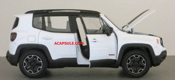 White Jeep Renegade Trailhawk 1/24 Scale Diecast Model Car