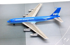 Jet-X Braniff Airways Boeing 720 Blue Diecast Model 1/400 Scale w Stand