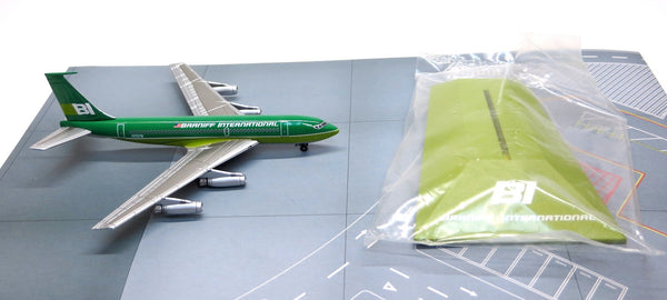 Jet-X Braniff Airways Boeing 720 Green Diecast Model 1/400 Scale w Stand