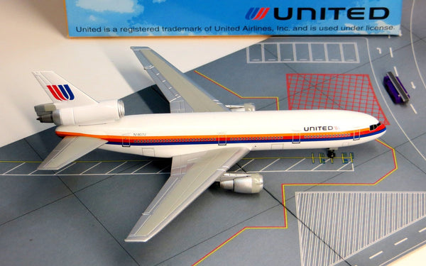 United Airlines DC-10 (74-93 Tulip Livery) Diecast Model 1/400 Scale