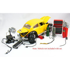 Kinsfun 1/18 Scale Diecast Metal Garage Shop Accessory Set