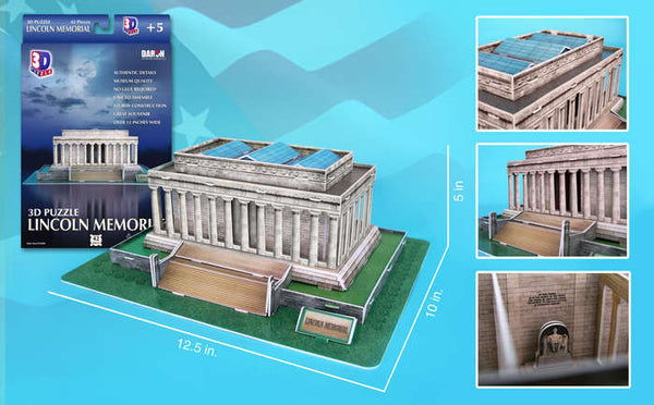 Lincoln Memorial - 42pc 3D Building Model