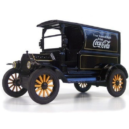 1:24 Diecast Coca-Cola 1917 Ford Model T Delivery Truck Black