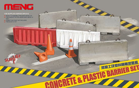 Concrete & Plastic Barrier Set 1/35 Model Kit