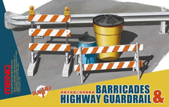 Barricades & Highway Guardrail Set 1/35 Model Kit