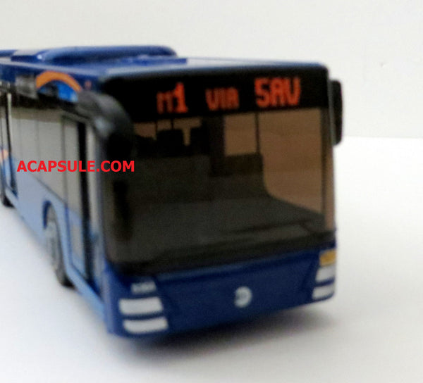 New Color Blue and Yellow New York City MTA Articulated Bus With Opening Door 16 Inches long