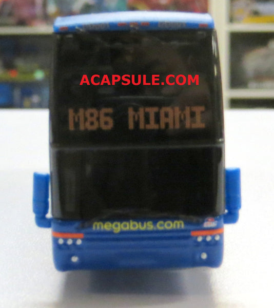 Megabus M86 to Miami - 1/87 Scale Van Hool TDX Double Decker Bus Model