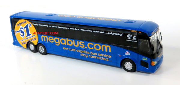 Megabus M21 to Washington - 1/87 Scale MCI D4505 Motorcoach Diecast Model