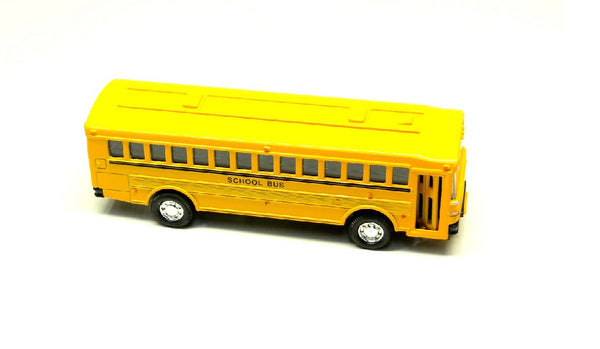 "5"" Diecast Metro School Bus with Pullback Action"