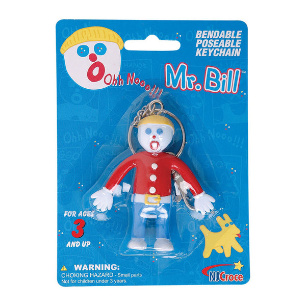 Mr Bill Bendable and Poseable Keychain