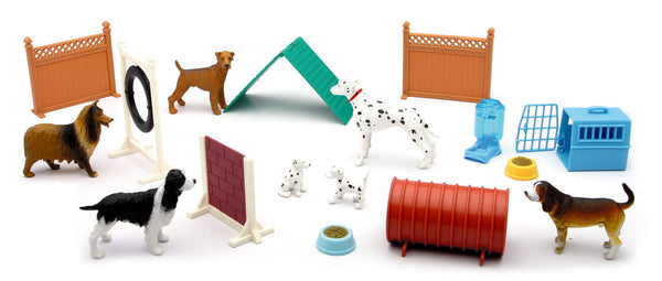 My Best Friend Dog Figures and Outdoor Backyard Playset