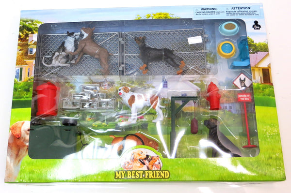 My Best Friend Dog Figures and Dog Pound Junk Yard Playset