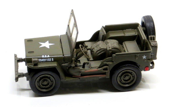 Diecast Willys Jeep US Army 1:32 Scale Model with Pullback Action
