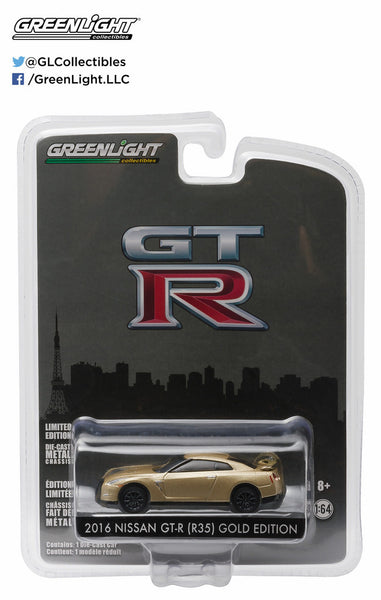 2016 Nissan GT-R (R35) Gold Edition 1/64 Diecast from Greenlight