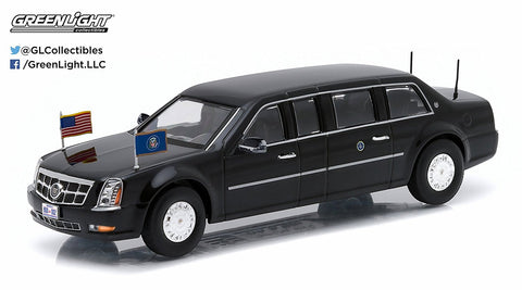 Barack Obama's Presidential Limo 2009 Cadillac Limousine 1/43 Diecast Model by Greenlight
