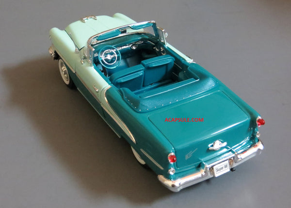 Green 1955 Oldsmobile Super 88 Convertible 1/24 Scale Diecast Model with Window Box