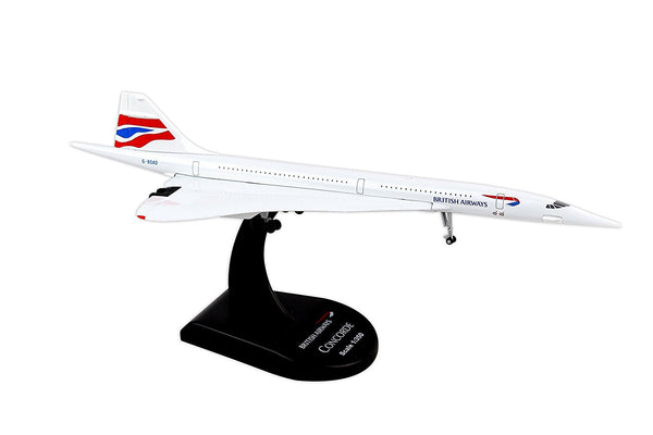 British Airways Concorde 1/350 Diecast Model with Stand Reg. G-BOAD