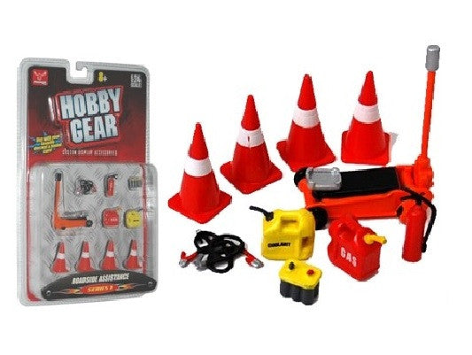Hobby Gear 1:24 Roadside Assistance 10 Piece Diorama Set