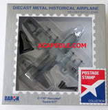 Postage Stamp C-130 Hercules Spare 617 1/200 Scale Diecast Model with Stand