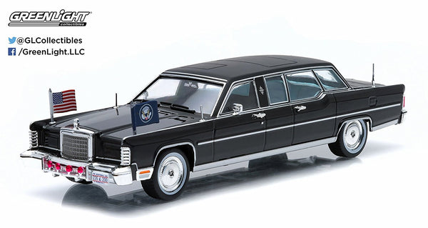 Ronald Reagan's Presidential Limo 1972 Lincoln Continental 1/43 Diecast Model by Greenlight