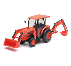 1/18 Scale Kubota L6060 Tractor with Backhoe and Loader with Lights and Sound