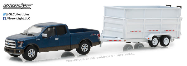 2016 Ford F-150 and Dump Trailer 1/64 Diecast Model